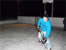 Teen Challenge Atlantic - Student Playing Night-Time Hockey