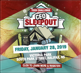 Teen Challenge Atlantic Men's Centre CEO SleepOut